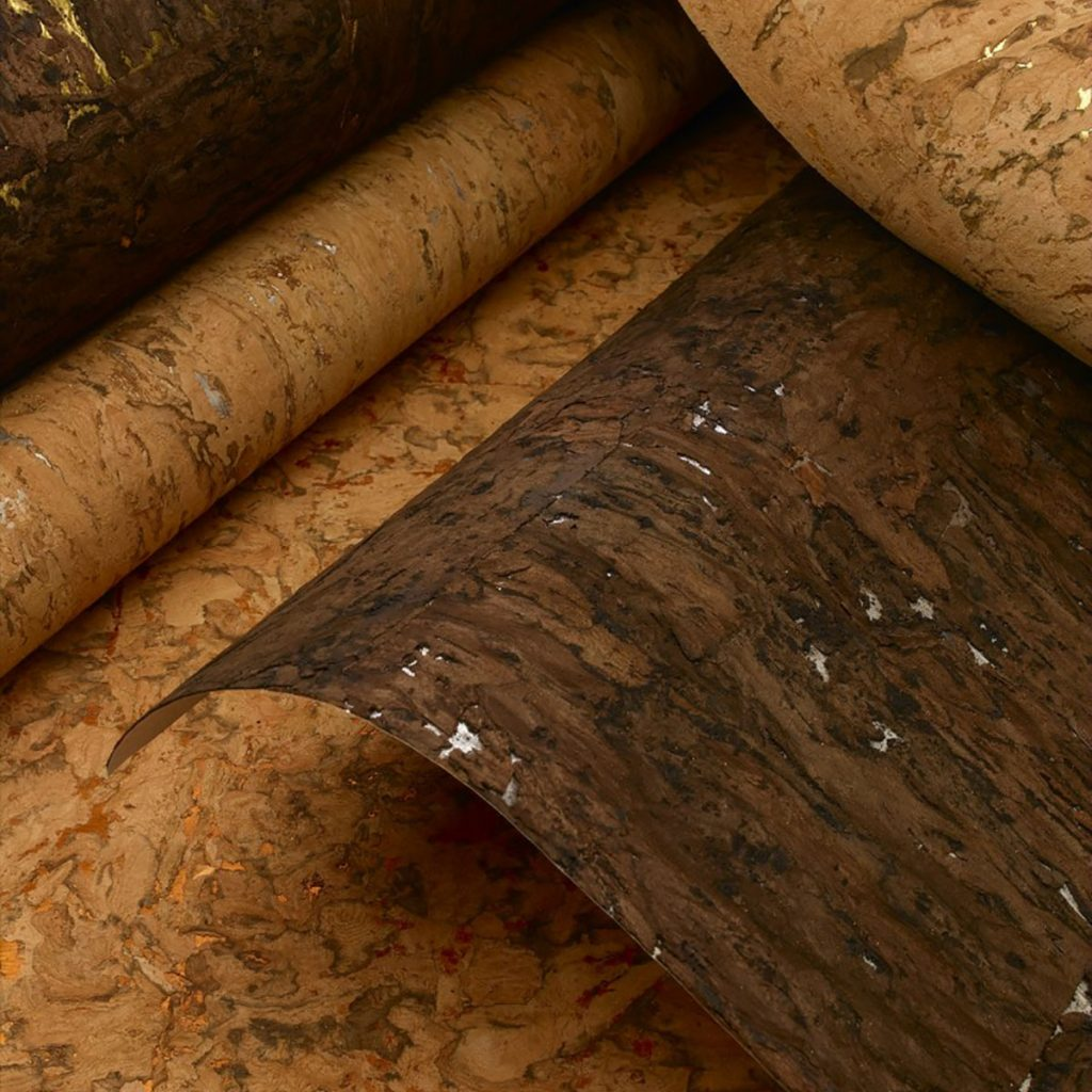 Cork wallpaper available at Atlantic Wallpaper & Decor in Pompano Beach, FL